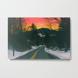 Fire and Ice Metal Print