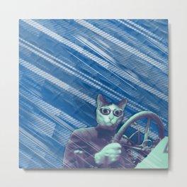 Driver cat Metal Print