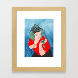 Medusa Inside Framed Art Print