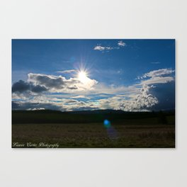 Sun after the storm Canvas Print