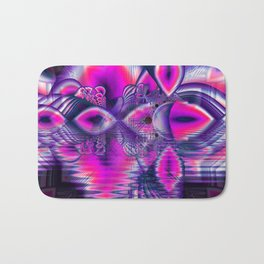 Rose Crystal Palace, Abstract Violet Love Dream Bath Mat
