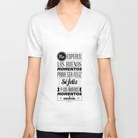 love quotes V-neck T-shirts featuring Quotes by alesantanderp