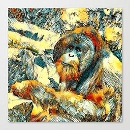 AnimalArt_OrangUtan_20170601_by_JAMColorsSpecial Canvas Print