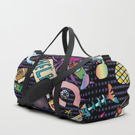 Cartoony Collage 2 Duffle Bag
