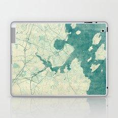 Portland Maine Map Blue Vintage Laptop & iPad Skin