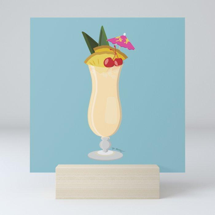 Tropical Piña Colada Mini Art Print