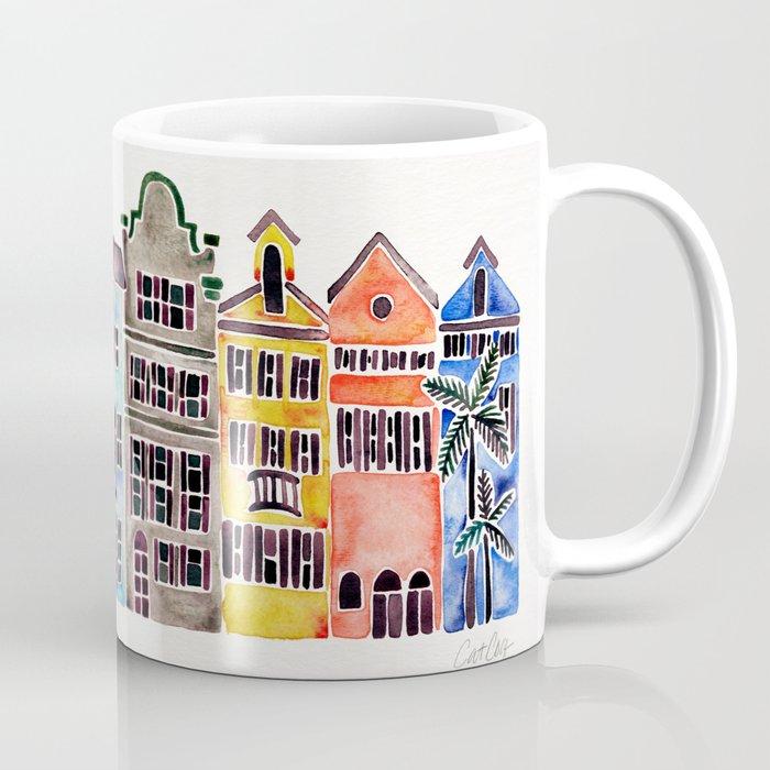 Rainbow Row Charleston Coffee Mug By Catcoq Society6
