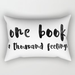 One book. Rectangular Pillow