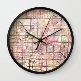 Las Vegas map 2 Wall Clock