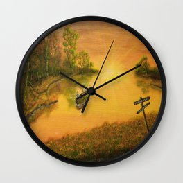 Fisherman's Alley (2014) Wall Clock