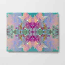 Floral Kaleidoscope Dream Metal Print