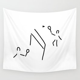 badminton shuttlecock player Wall Tapestry