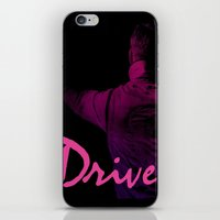 ryan gosling iPhone & iPod Skins featuring Ryan Gosling in Drive by 2b2dornot2b