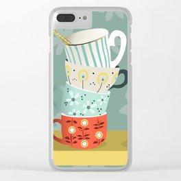 Coffee shelf Clear iPhone Case
