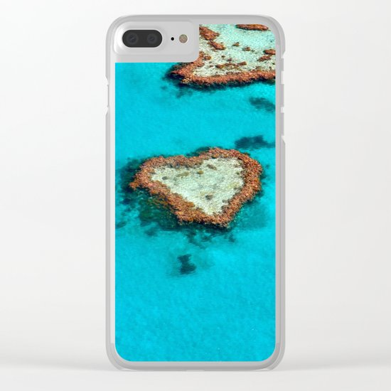Heart Coral Reef - Queensland, Australia Clear iPhone Case
