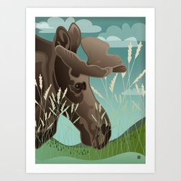 Shiras Moose Art Print