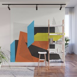 Memphis Throwback Retro 1980s 80s Trendy Hipster Bright Shapes Pattern Eighties Wall Mural