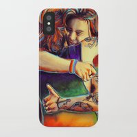 larry iPhone & iPod Cases featuring Home - Larry by art-changes