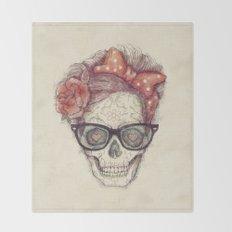 Hipster Girl is Dead Throw Blanket