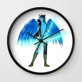 Luc Ready for Battle (No Background) Wall Clock
