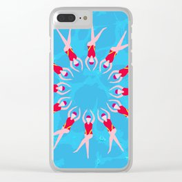 Synchronized Swimmers Clear iPhone Case
