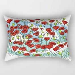 Field Poppies Rectangular Pillow