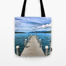 Stepping to the Sea Tote Bag