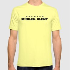 Walking Spoiler Alert! Mens Fitted Tee Lemon SMALL