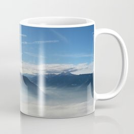 Panoramic view over the Adige Valley near Merano Coffee Mug