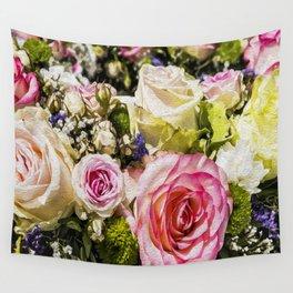 Shabby Roses Wall Tapestry