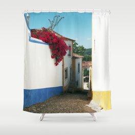 Portugal, Obidos (RR 180) Analog 6x6 odak Ektar 100 Shower Curtain