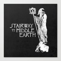 middle earth Canvas Prints featuring stairway to middle-earth by jerbing