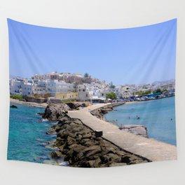 Beautiful Naxos Island in Greece Wall Tapestry