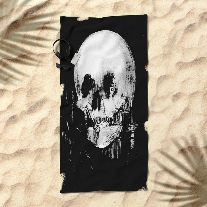 All Is Vanity: Halloween Life, Death, and Existence Beach Towel