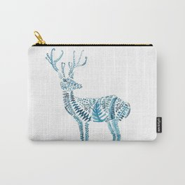 green deer watercolor Carry-All Pouch