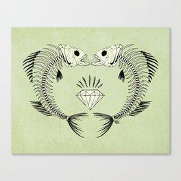 fishbones Canvas Print