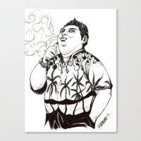 karl Canvas Prints featuring Karl by vaporcomics