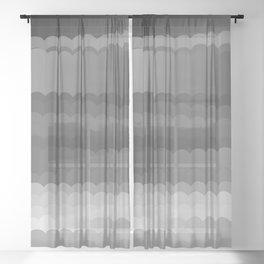 Gray Waves Sheer Curtain