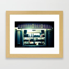 whiskey and ammo Framed Art Print