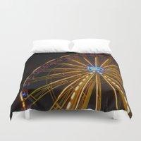 ferris wheel Duvet Covers featuring Ferris Wheel by Michelle Loidl