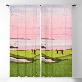 Pebble Beach Golf Course 8th Hole Blackout Curtain