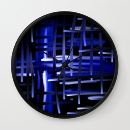 Blue Cosmos Abstract Wall Clock