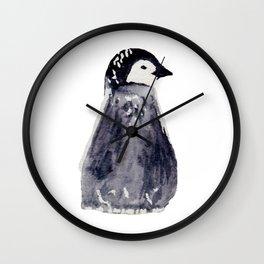 baby pinguin - bebe manchot - nord - north - banquise - arctique Wall Clock