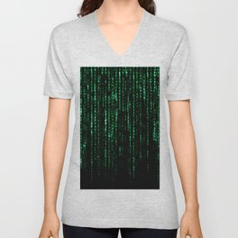The Matrix Code Unisex V-Neck