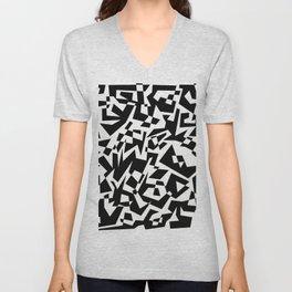 Black and White Maze Unisex V-Neck