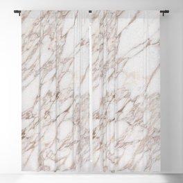 White Marble Carrara Calacatta Blackout Curtain