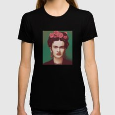 Frida Womens Fitted Tee MEDIUM Black