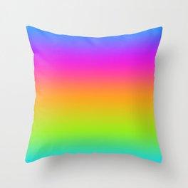 Beach Stripe Rainbow Variegated101 Throw Pillow