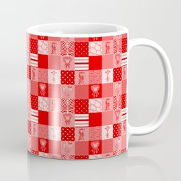Jungle Friends Shades of Red Cheater Quilt Coffee Mug