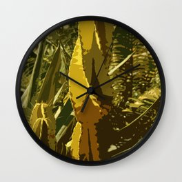 The Beauty Of A Cactus Wall Clock